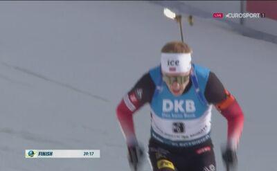 Johannes Thingnes Boe wygrał bieg ze startu wspólnego w Novym Mescie