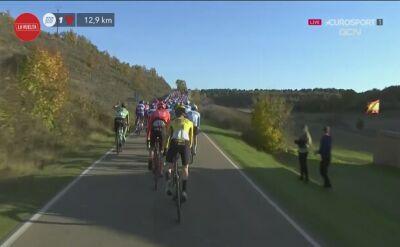 Primoz Roglic musiał zmienić rower na ostatnich kilometrach 9. etapu Vuelty
