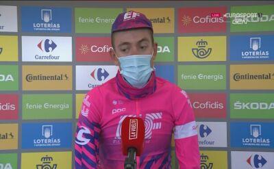 Hugh Carthy po zwycięstwie na 12. etapie Vuelta a Espana