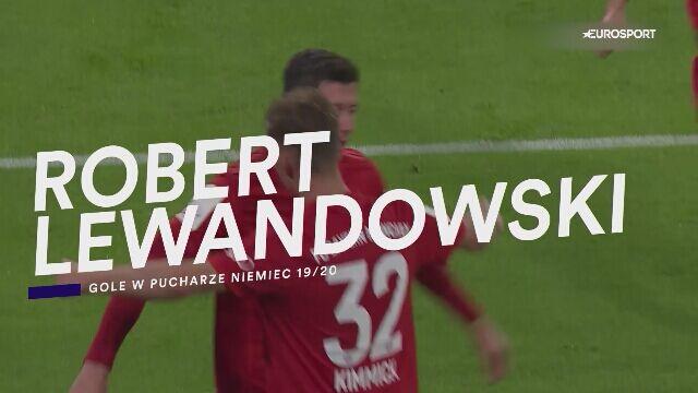 Wszystkie gole Roberta Lewandowskiego w Pucharze Niemiec 2019/2020