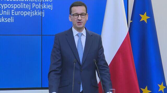 Całe wystąpienie premiera Morawieckiego po spotkaniu w Brukseli