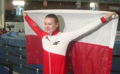 Natalia Maliszewska cieszy się po zdobyciu Pucharu Świata