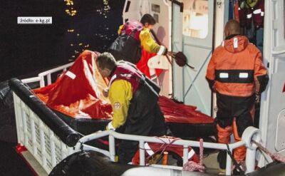 Akcja ratownicza na Bałtyku w pobliżu Kołobrzegu