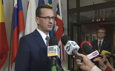 Morawiecki: nowa Europa potrzebuje nowych twarzy, które nie kojarzą się z atakiem na innych