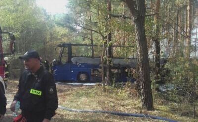 Autokar pełen dzieci spłonął w lesie