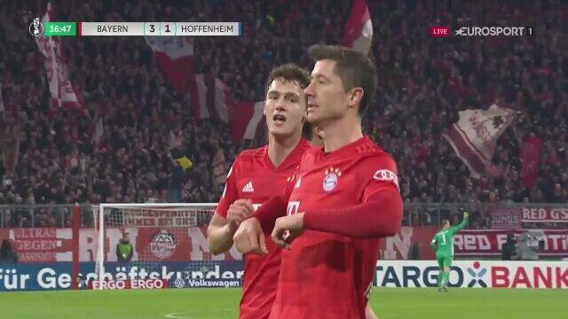 Robert Lewandowski pokonał bramkarza Hoffenheim