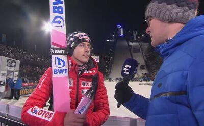 Dawid Kubacki po konkursie w Oberstdorfie