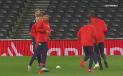 Zawodnicy RB Lipsk trenują przed meczem z Tottenhamem w LM