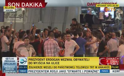 Mieszkańcy Ankary i Stambułu wyszli na ulice