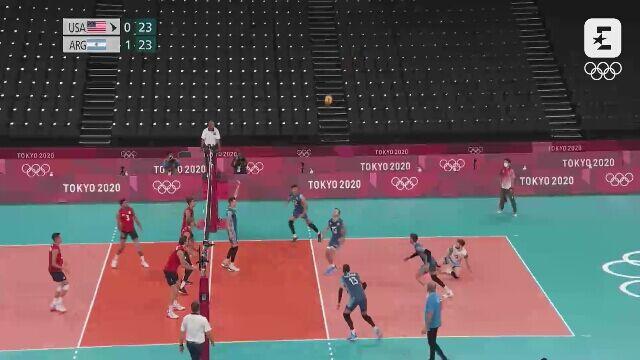 Tokio. Siatkówka. Skrót meczu Stany Zjednoczone - Argentyna