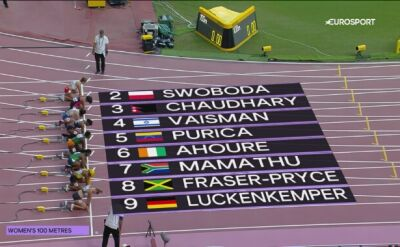 Swoboda z awansem do półfinału na 100 metrów