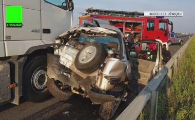 Wypadek na S8. Dwie osoby ranne