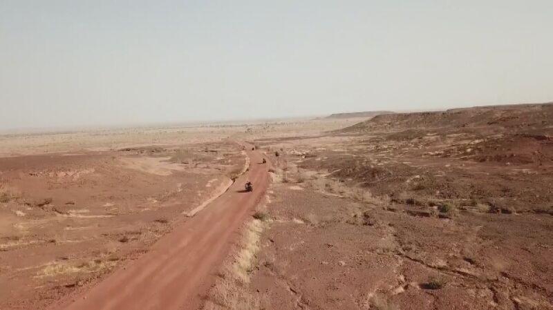 Nigerscy żołnierze podczas ćwiczenia z Amerykanami