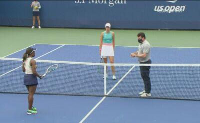 Skrót meczu Iga Świątek - Sachia Vickery w 2. rundzie US Open
