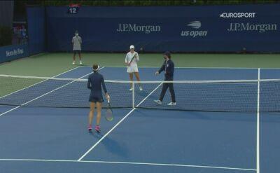 Skrót meczu 1. rundy US Open: Iga Świątek - Weronika Kudermetowa