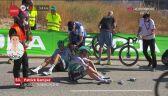 Niebezpieczna kraksa na końcu 2. etapu Vuelta a Espana