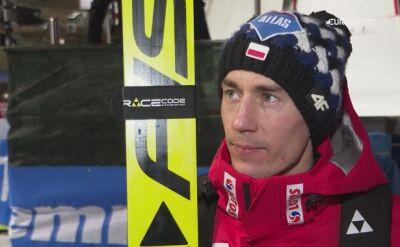 Kamil Stoch po kwalifikacjach w Val di Fiemme