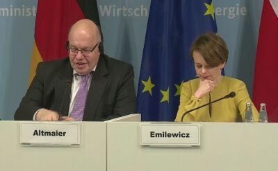 Minister gospodarki i energii Niemiec o Nord Stream 2