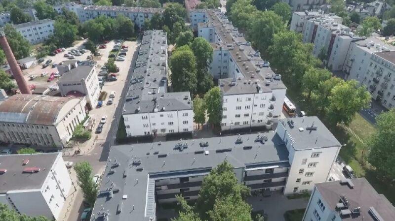 Tak dziś wygląda Żoliborz i III kolonia WSM (wideo bez dźwięku)