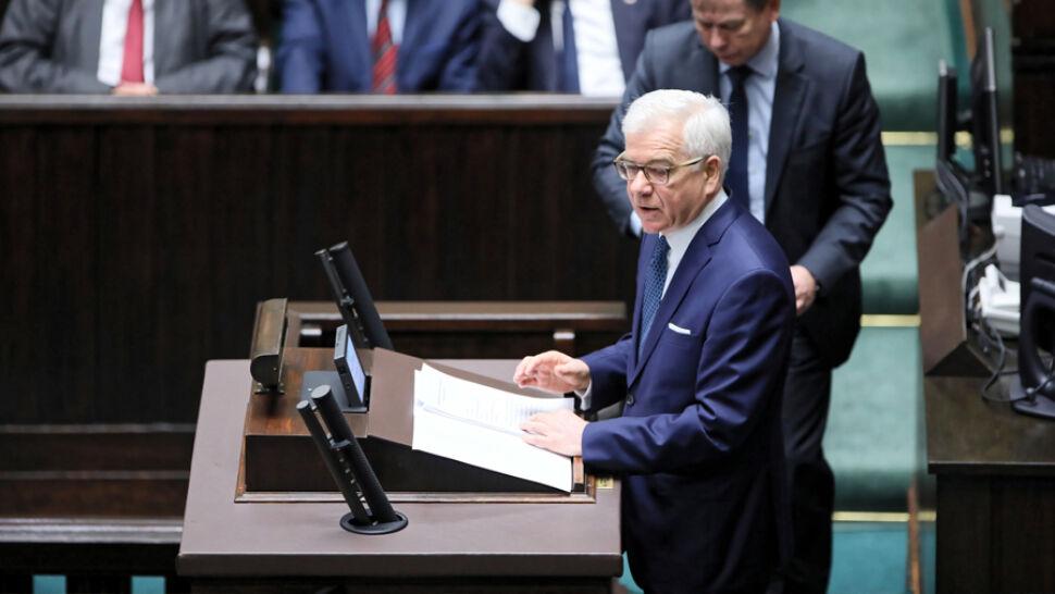 Expose szefa MSZ. Czaputowicz mówił o środkach unijnych