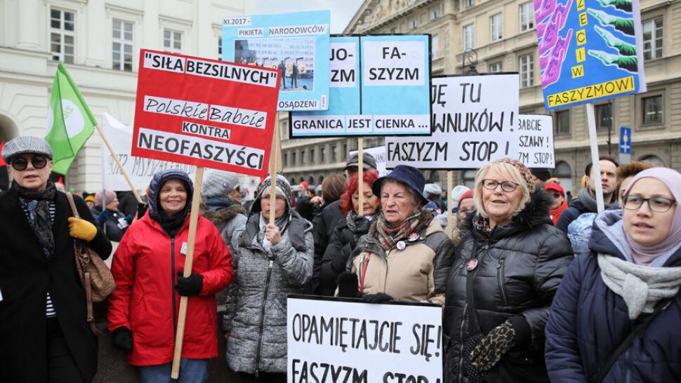 """""""Protestujemy przeciw rasizmowi, przeciwko ksenofobii"""""""