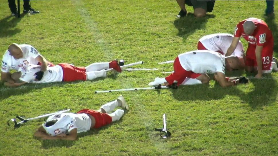 Heroiczna walka Polaków w ćwierćfinale mistrzostw świata w amp futbolu. Zdecydowały karne