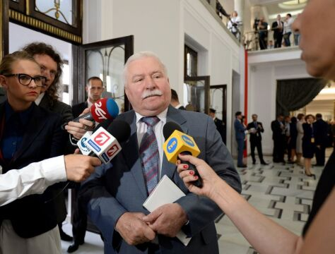 06.08.2015 | Lech Wałęsa przed zaprzysiężeniem Andrzeja Dudy