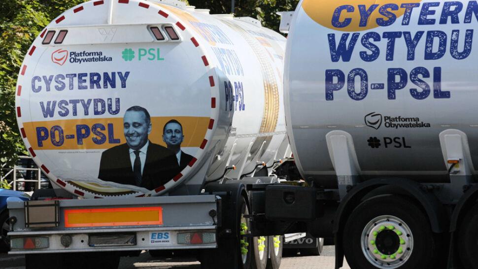 """PiS wynajął kampanijne cysterny. """"Dotrą do każdego województwa"""""""