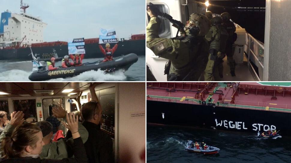 Akcja Greenpeace i działania służb. Straż Graniczna weszła na pokład