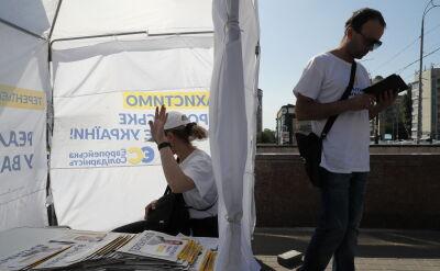 Partia prezydenta prowadzi w sondażach. W sobotę wybory na Ukrainie