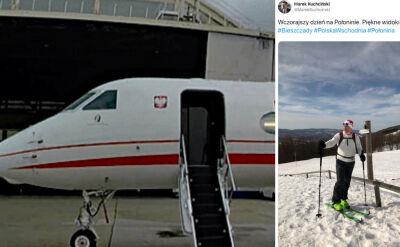 """Marszałek Sejmu na nartach. W Bieszczady poleciał samolotem rządowym, sytuacja miała być """"nagła"""""""