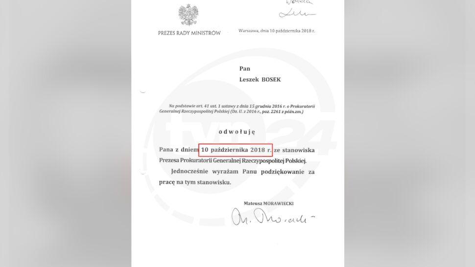 Maile Dworczyka i odwołanie prezesa Prokuratorii Generalnej. Czy dokument był antydatowany?