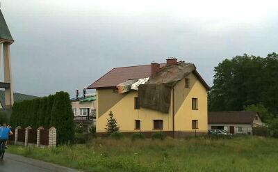 Trąba powietrzna w Małopolsce. Wiele budynków zniszczonych
