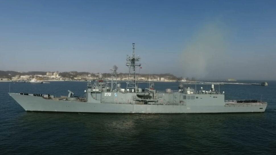 ORP Pułaski już w Gdyni. Okręt wrócił z ćwiczeń