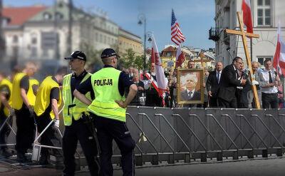 Krakowskie Przedmieście jak twierdza. Kolejna miesięcznica i kontrmanifestacja