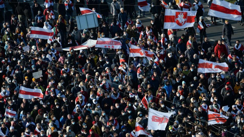 """Protesty na Białorusi nie ustają. Wielki """"Marsz Partyzancki"""" w Mińsku"""