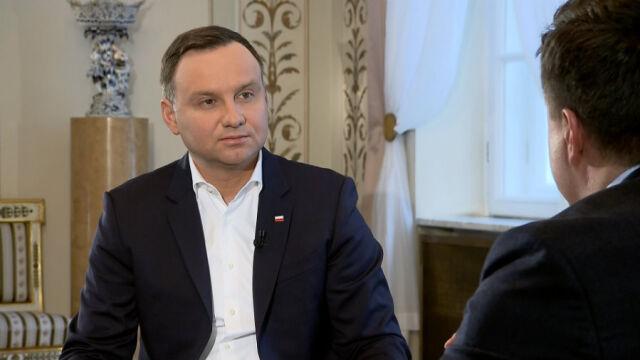 """Prezydent Andrzej Duda był gościem """"Kawy na ławę"""""""