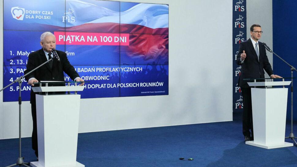 """PiS zapowiada """"piątkę"""" na pierwsze 100 dni rządu"""