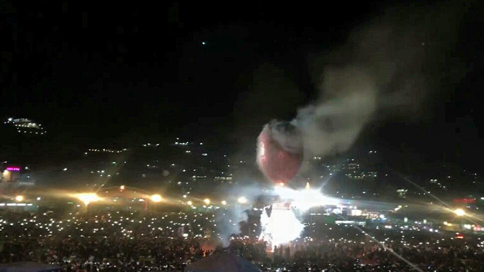 Eksplodujące fajerwerki spadły na widzów