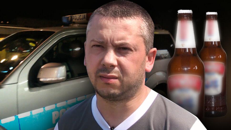 Nagrał policjantów na służbie z butelkami po piwie. Teraz sam ma kłopoty