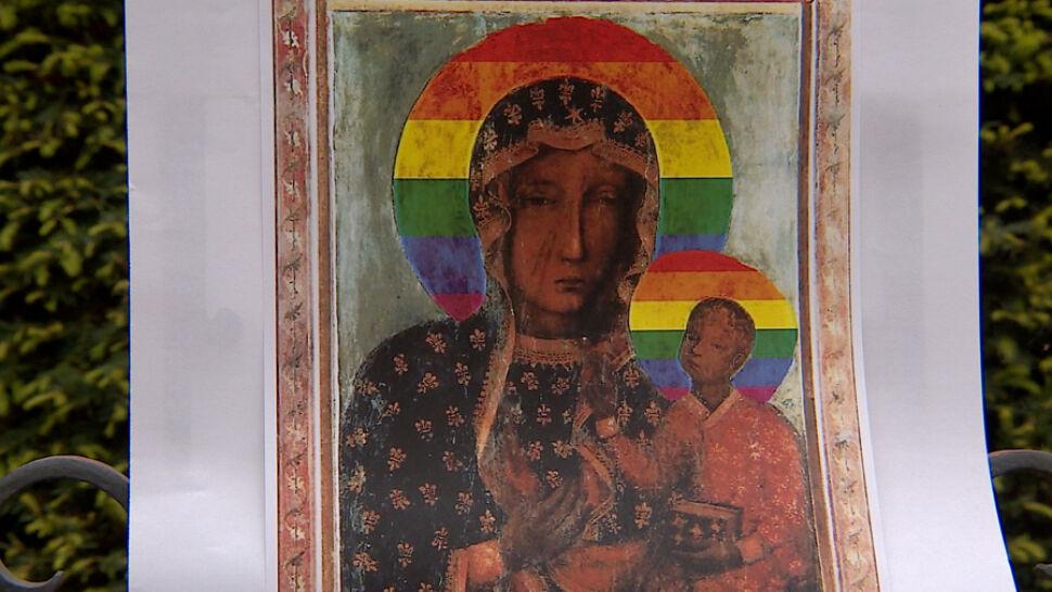 Elżbieta Podleśna Zatrzymana Za Plakat Matki Boskiej Z