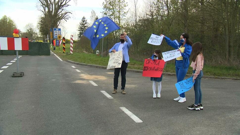 """Protest na granicy polsko-niemieckiej. """"Rozrywana zostaje następna rodzina"""""""