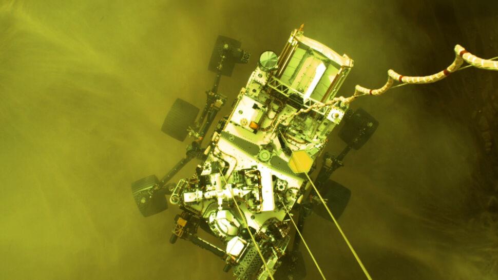 Tak łazik Perseverance lądował na Marsie. NASA opublikowała historyczne nagranie