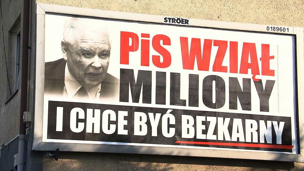"""""""PiS wziął miliony i chce być bezkarny"""". Jarosław Kaczyński """"twarzą"""" kampanii PO"""
