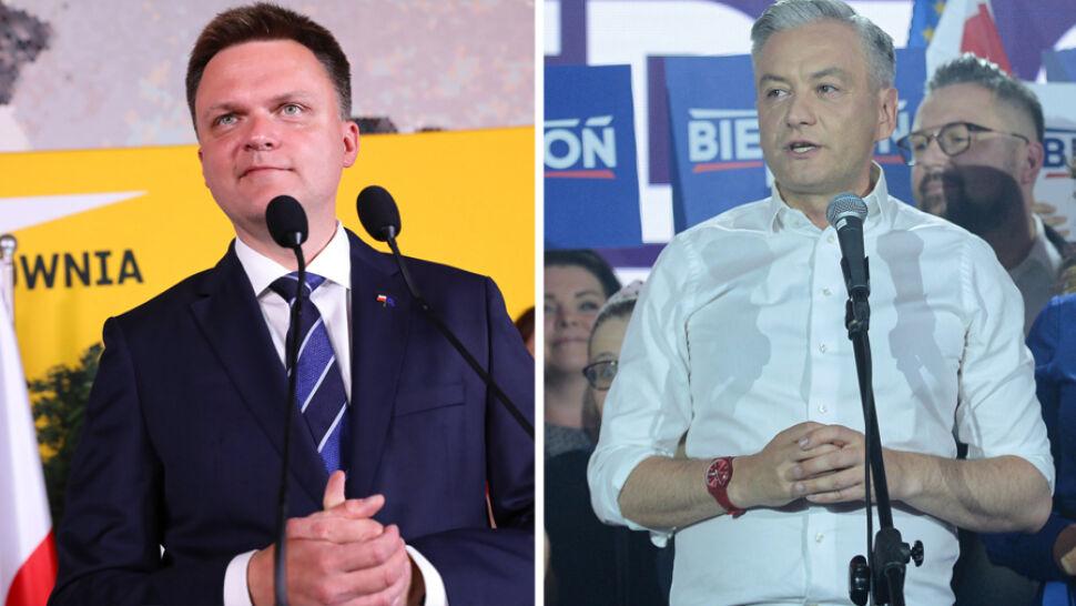 Biedroń poparł Trzaskowskiego, ludzie Hołowni prowadzą rozmowy