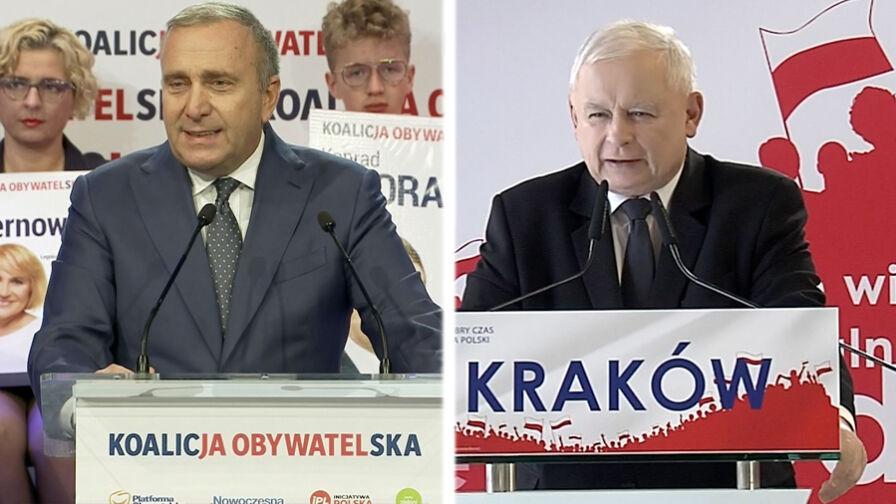 Konwencje wyborcze PiS i KO