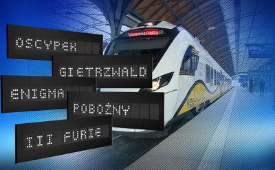 """14.10.2017   """"Pobożny"""", """"Oscypek"""" i """"Trzy furie"""" na torach. Nietypowe nazwy pociągów"""