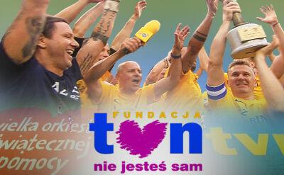 Ponad pół miliona złotych udało się zebrać podczas meczu charytatywnego TVN kontra WOŚP