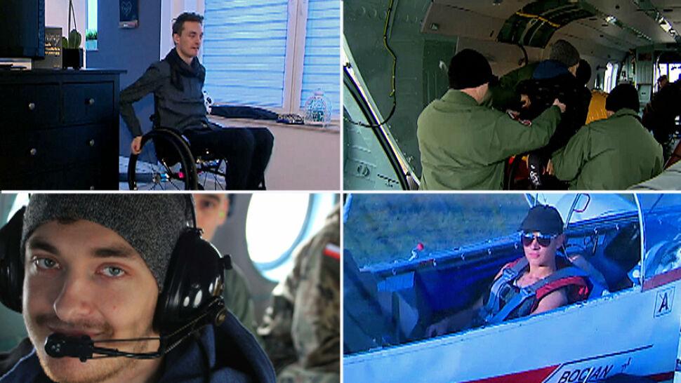 """Wypadek odebrał mu sprawność, ale nie chęć latania. """"Trzeba korzystać z życia jak najwięcej"""""""