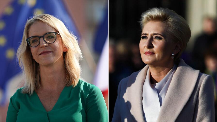 """Czy pierwsza dama powinna zabierać głos w tematach społeczno-politycznych? Sondaż dla """"Faktów"""" TVN i TVN24"""